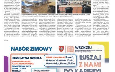 """WSCKZiU w magazynie """"Monitor Wielkopolski"""""""